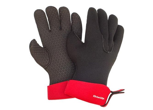 Chef's Glove 5 Finger - Red - Large