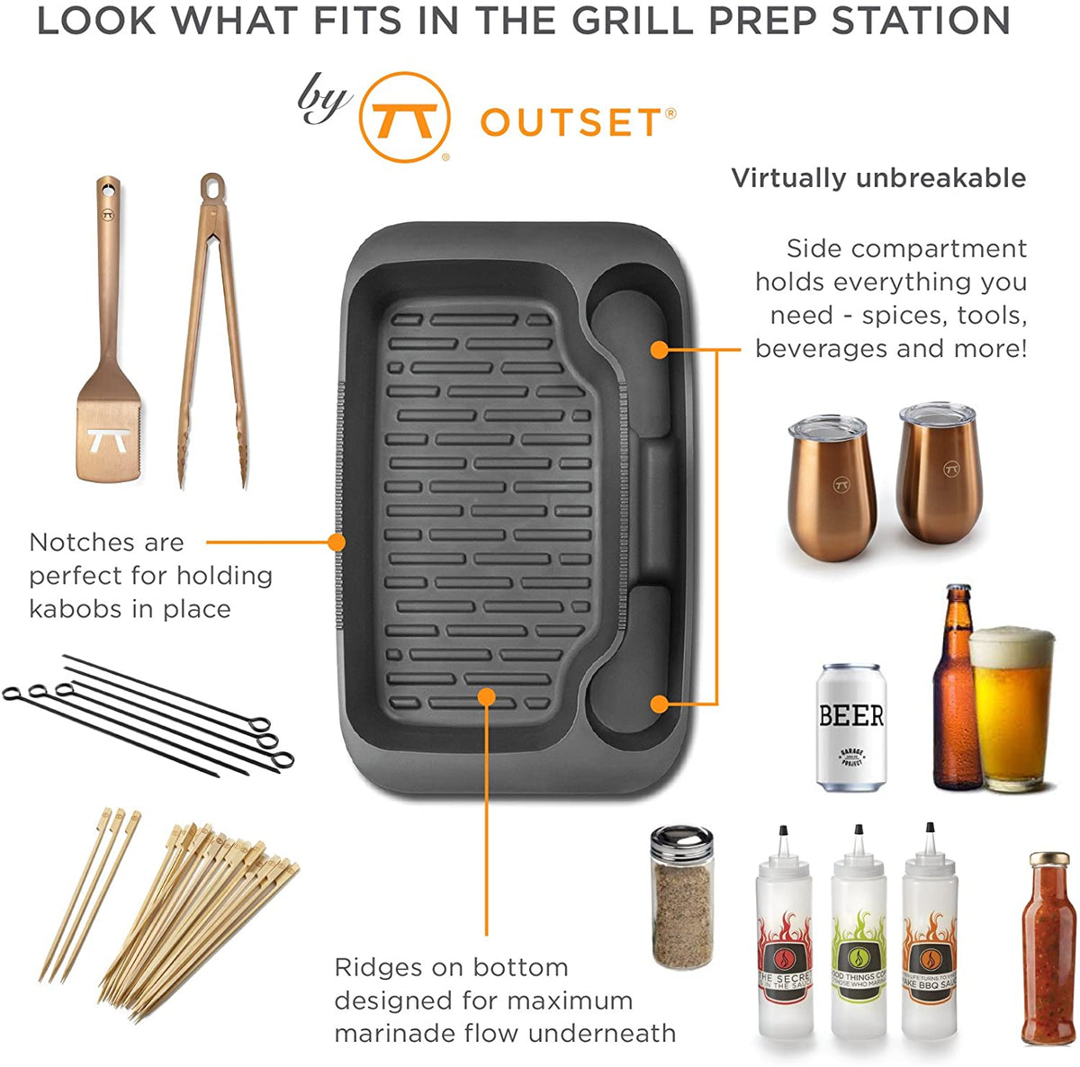 Outset Grill Prep Station