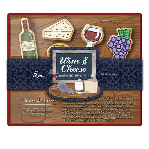 Cookie Cutter Set-Wine & Cheese