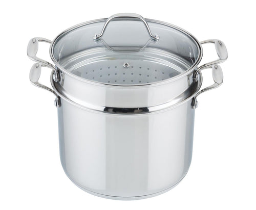 Frigidaire Stock Pot with Steamer/Pasta Insert - 8L