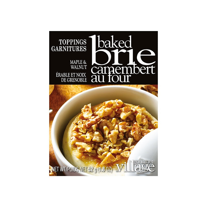 Gourmet Village Brie Topping - Maple Walnut