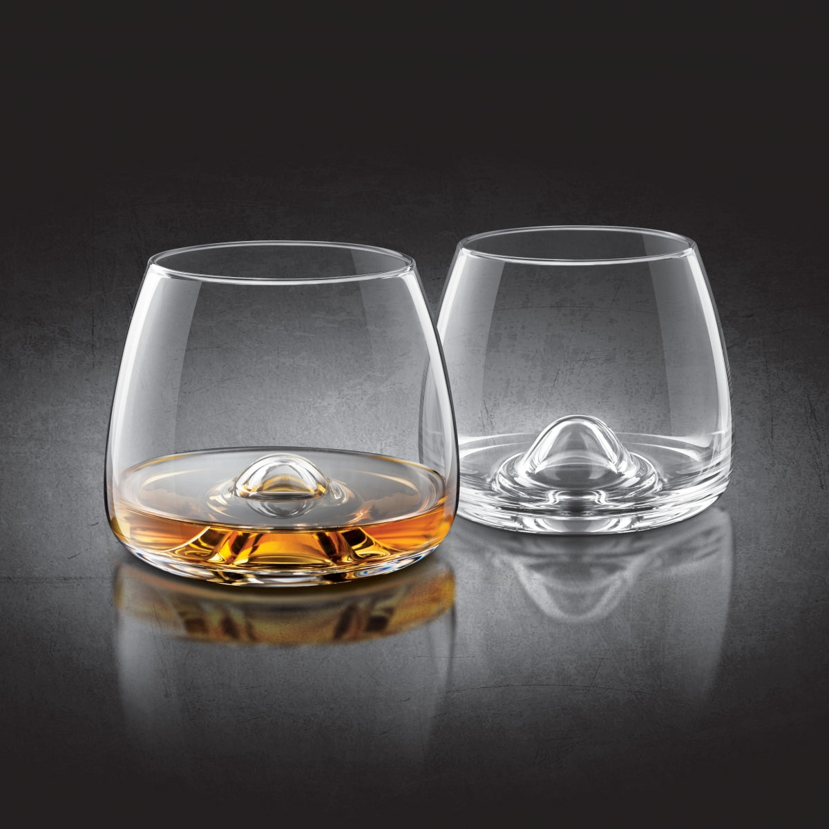 Whiskey Lead-Free Crystal Glasses-Set of 2
