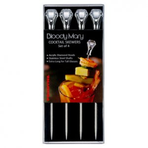 Bloody Mary Garnish Skewers - Clear Diamond