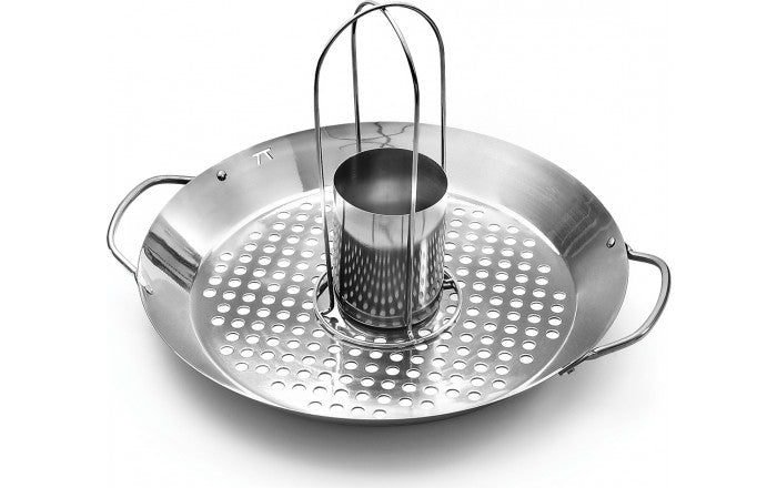 Outlet Roasting Wok-2 in 1-Stainless Steel