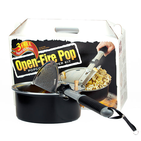 Whirley Pop Popcorn Maker-Open Fire