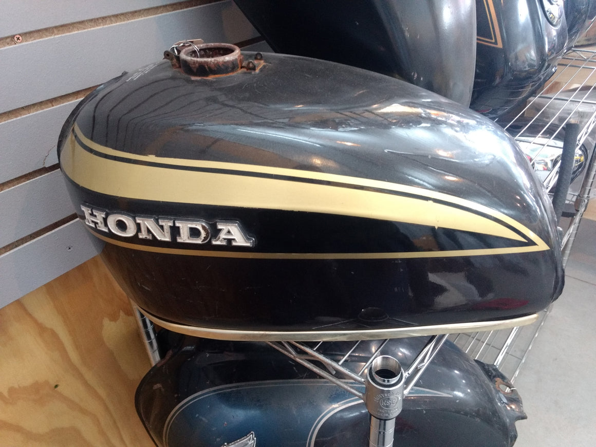 Honda Tank - Black with Gold