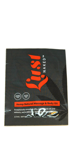 Hemp Natural Massage & Body Oil - Sample
