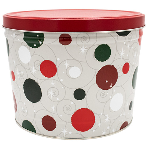 Jolly Dots 2 gallon Tin