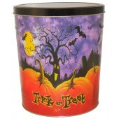 Halloween Pumpkin Patch 3.5 Gallon Tin