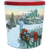 Christmas Mail 6.5 Gallon Tin