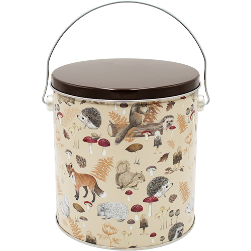 Woodland Creatures 1 Gallon Tin