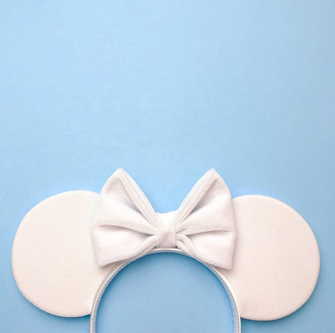 White Velvet Mouse Ears