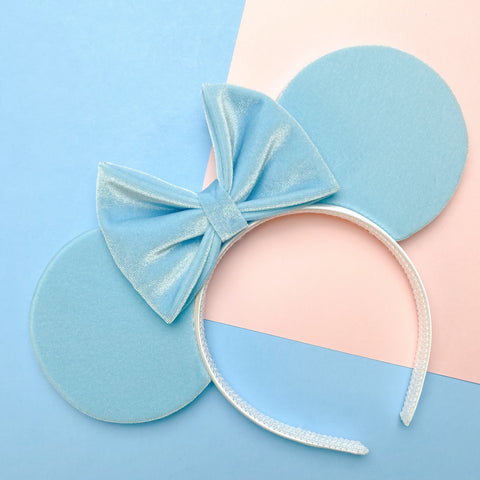 Ice Blue  Velvet Mouse Ears