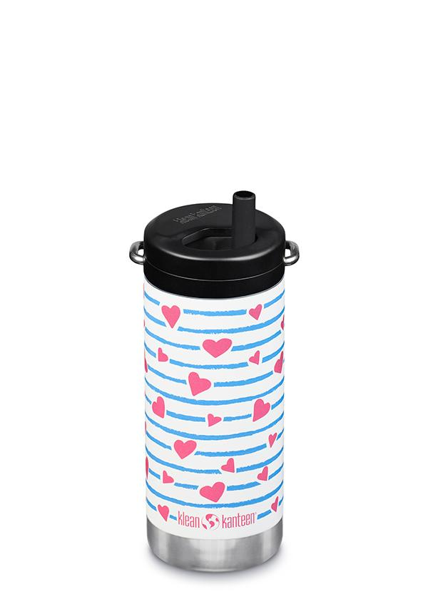 Insulated TKWide 12 ounce Bottle with Straw