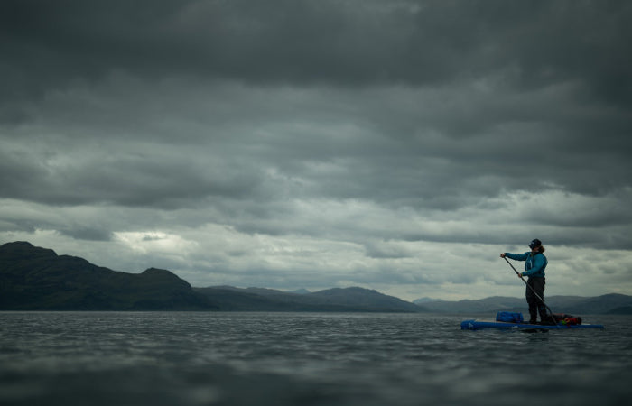Paddleboarding off to the Summer Isles
