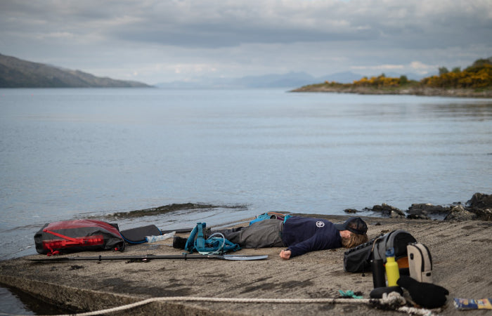A much needed rest after 8 hours of pushing pretty hard to make the 30 miles to Mull before the tides turned