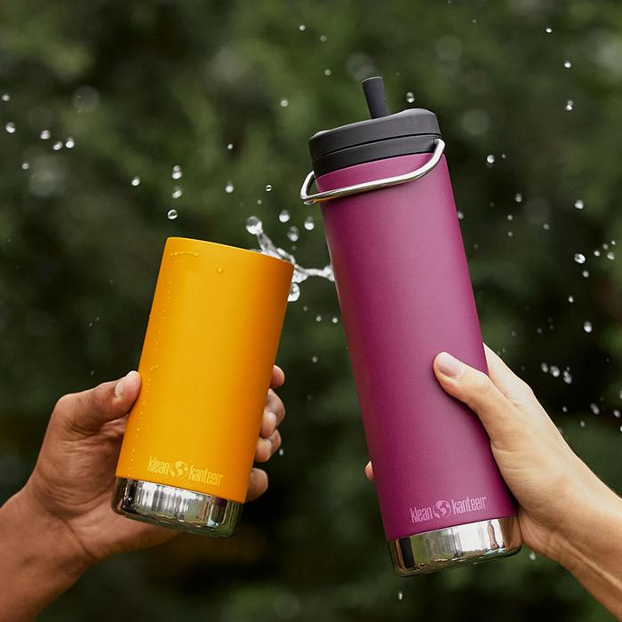 Klean Insulated Bottles with Straw Lid for Drinking