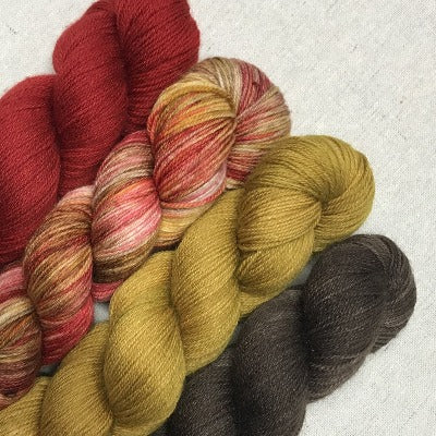 Orchard Basket, Deep Woods Red, Tobacco Road, Espresso - Studio Sox - 4-Color Kit