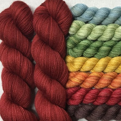 Fall Is In The Air, Deep Woods Red - Garden Variety MKAL - Kits