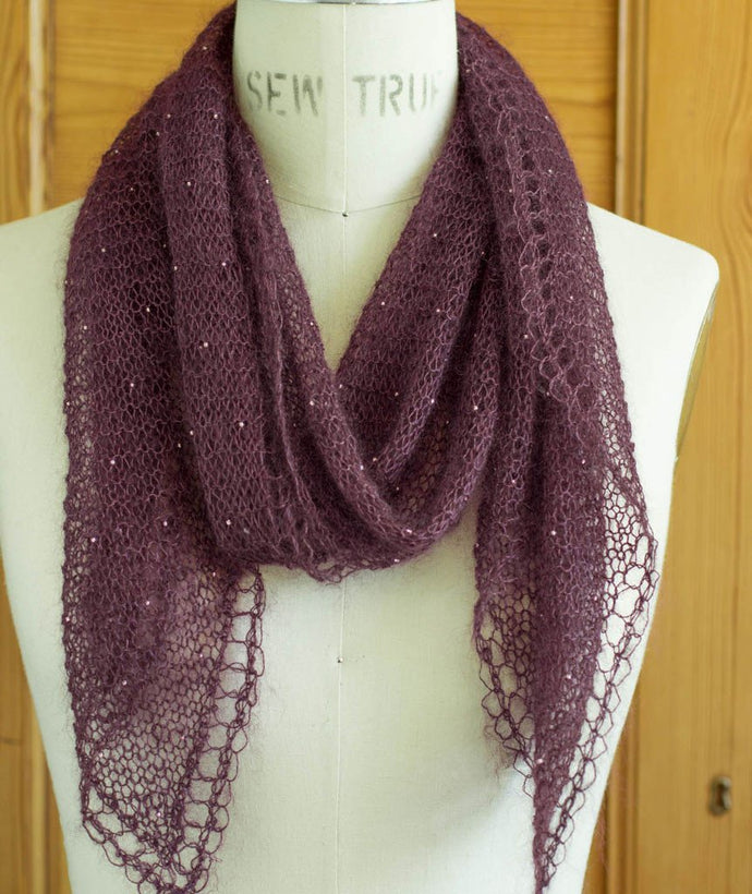 Beaded Mohair Scarf - Churchmouse - Patterns