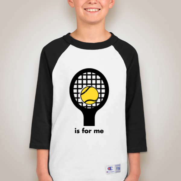 Youth 3/4 Sleeve Racquet Raglan