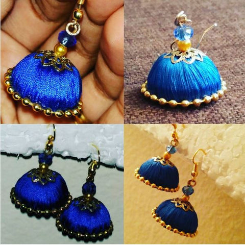 Silk Thread Jhumka Earrings