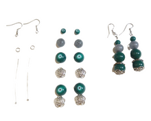 Teal and Gray Earrings Kit