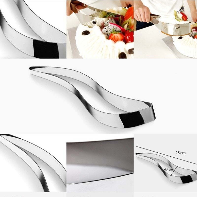 Stainless Steel Cake Slice & Serve Spatula - Slice That FIDGE!