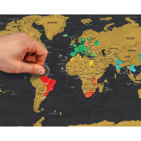 Mini World Map Scratch Off - Travel FIDGE!