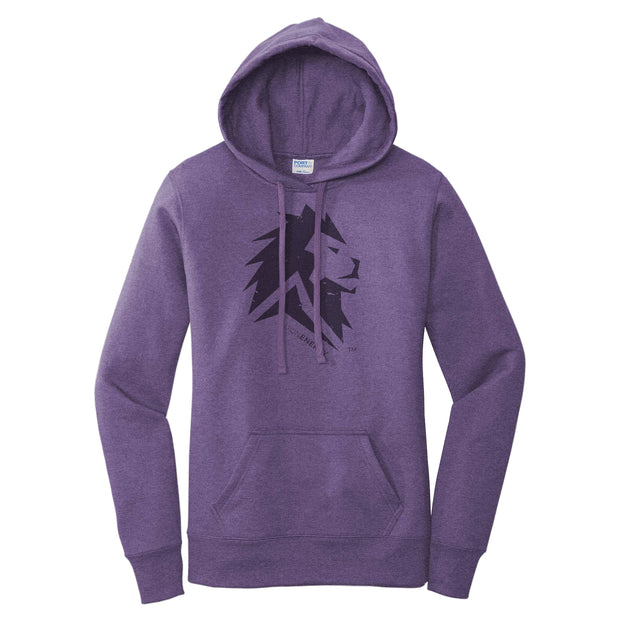 Lion Energy Women's Hoodie - Heather Purple