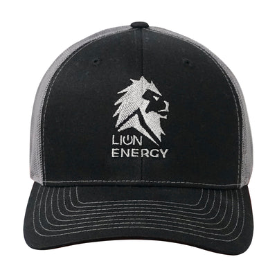 Lion Energy Logo Hat - Black/Charcoal