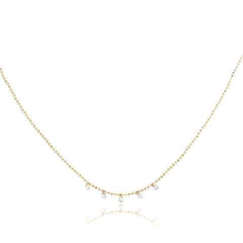 Celeste Floating 5 Diamond Necklace