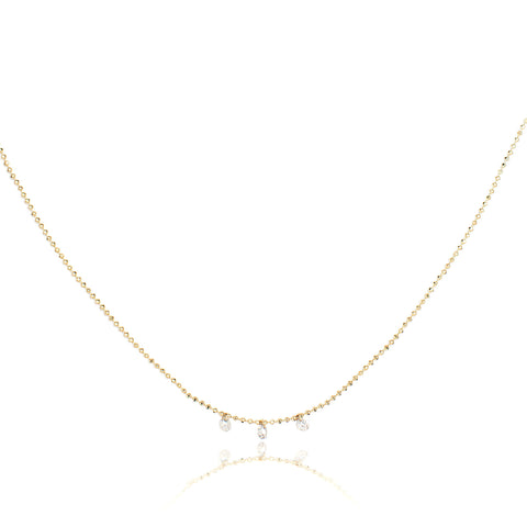 Celeste Floating 3 Diamond Necklace