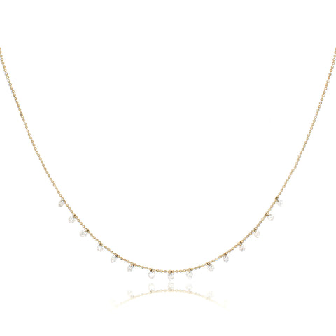 Celeste 15 Floating Diamond Necklace