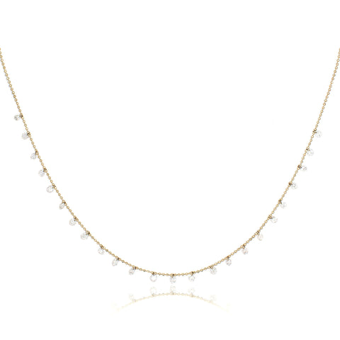 Celeste Floating 24 Diamond Necklace