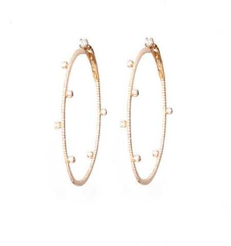 Constellation Hoops in Rose Gold