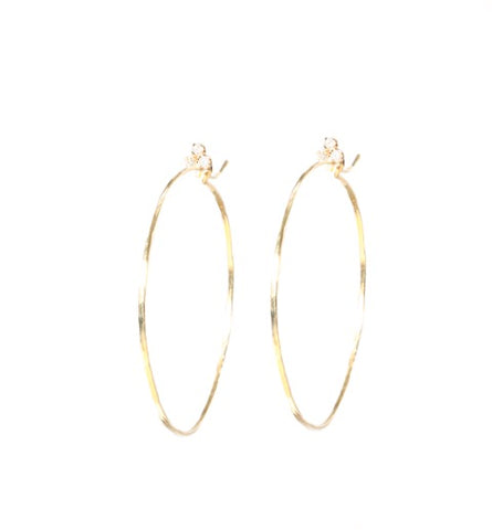Fluerette Top Hoops in Yellow Gold