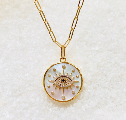 Mother of Pearl Evil Eye