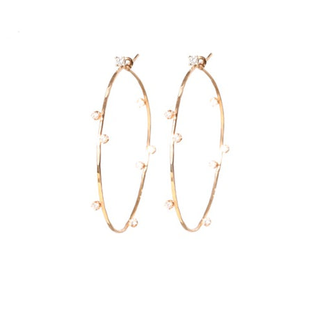 Tiara Hoops in Rose Gold