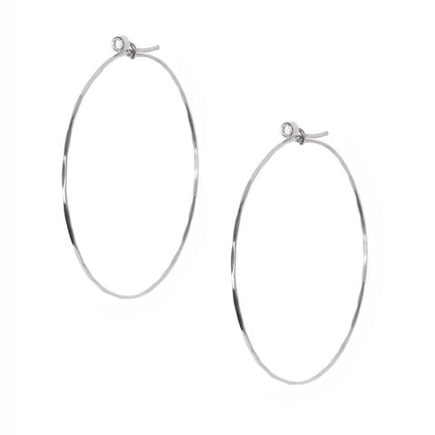 Jessica Hoops in White Gold