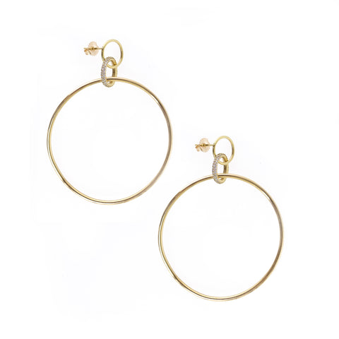 Twisted Trinity Hoops in 18k Yellow Gold