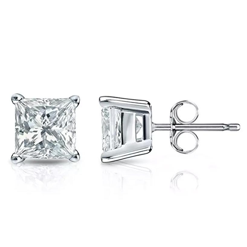 shopify-Silver Square Stud Earrings-1