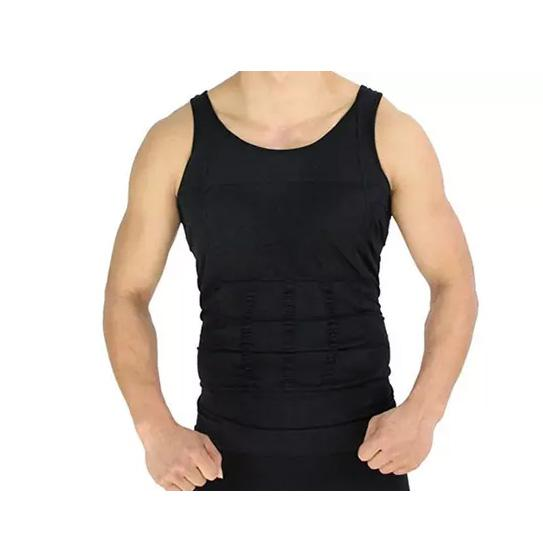 shopify-Men's Body Shaper Slimming Vest Shapewear Compression Undershirt-1