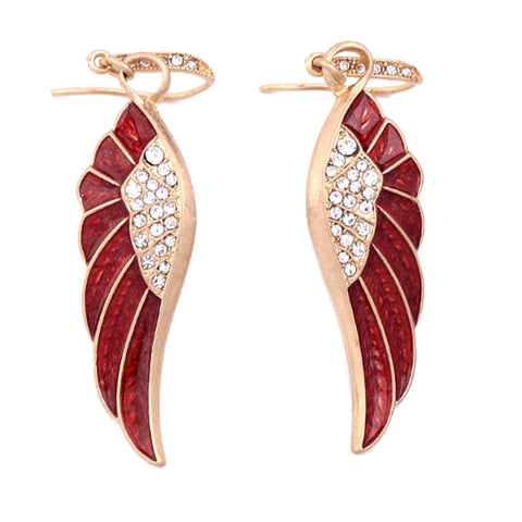 Red Angel Wing Earrings - SoulForHer