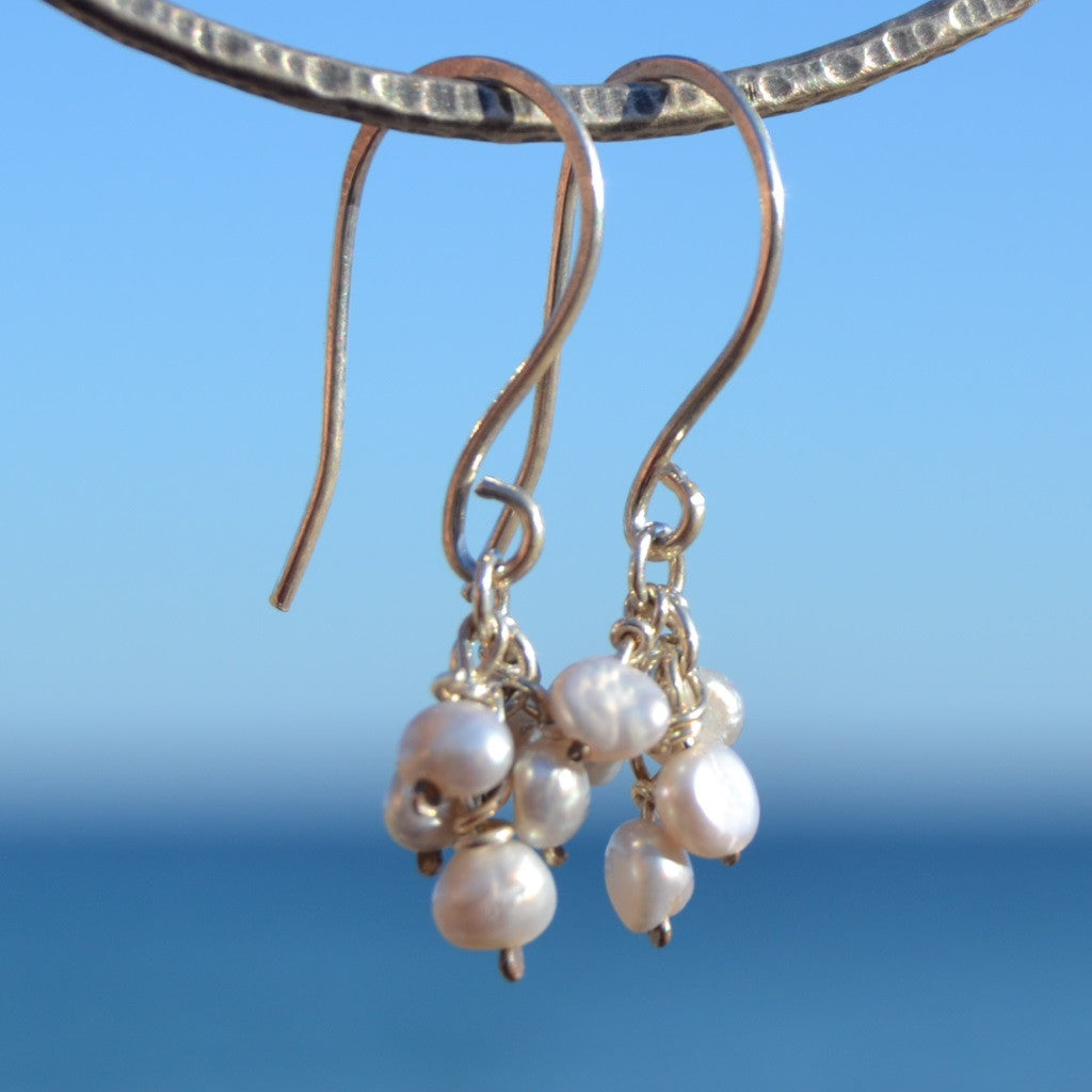 cc2cb233f Freshwater Pearl Cluster Earrings – Nicky Webb Jewellery