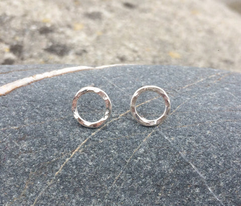 Silver Open Circle Studs