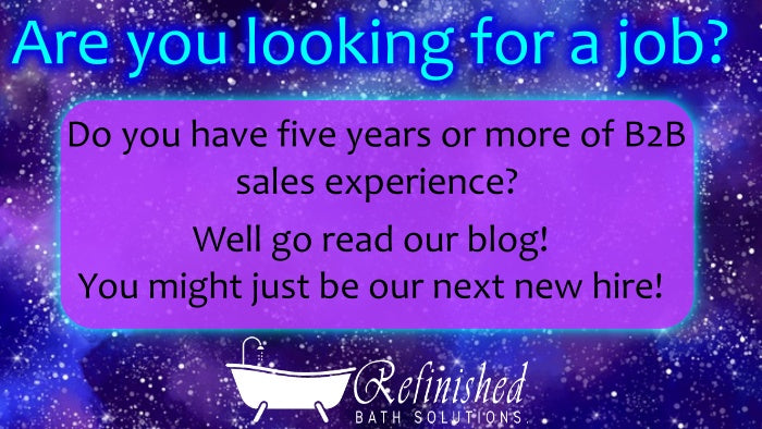 Refinished Bath Solutions is Hiring!!!