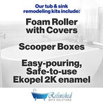 Pabrec Ekopel 2K Sink / Shower Pan Recasting Kit. (1300 Gram - 1/2 Size Kit)
