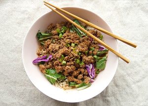 Low Carb Sweet Asian Grass Fed Beef Bowl