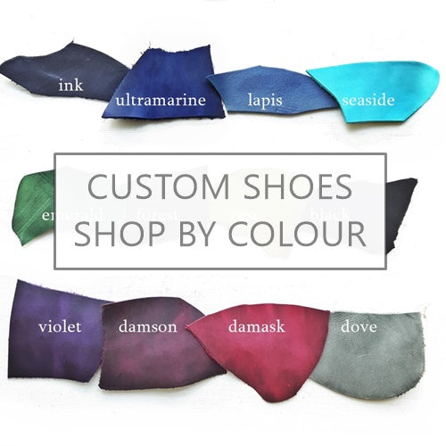Shop for handmade custom shoes by leather colour